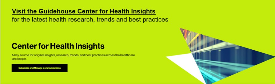 Guidehouse Center for Health Insights